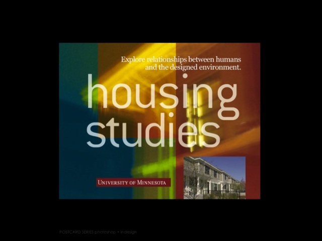 University of Minnesota Housing Studies Recruiting Postcard