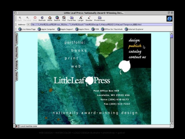 Little Leaf Press, Inc. Website Design