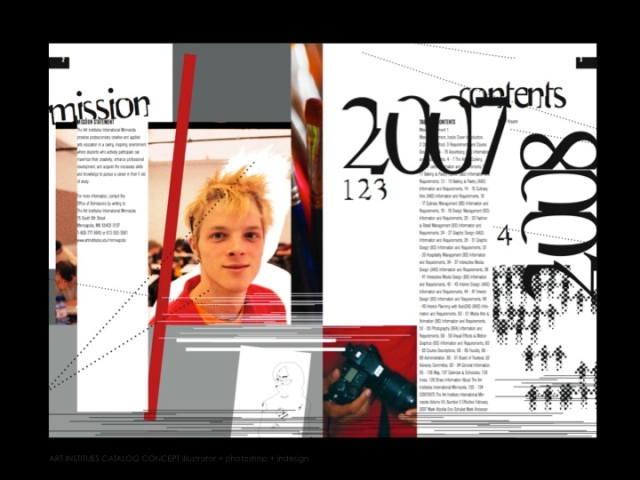 The Art Institutes International Minnesota Catalog Spread #1