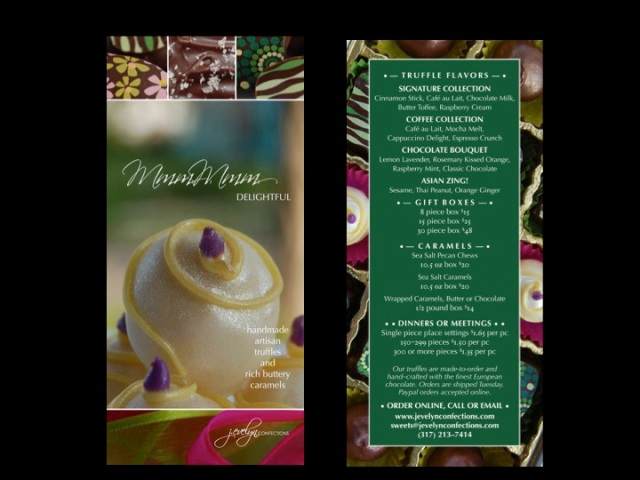 J. Evelyn Confections Spring Menu Brochure